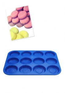 Wax Melt Tart, Soap Making, Bath Bomb Mold Mould Tray, Heart, Flower, Swirl etc. S7749